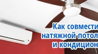 Натяжной потолок и кондиционер